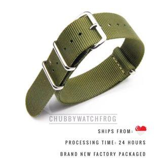 🚚 BRAND NEW NATO / ZULU WATCH STRAP 20MM - SHIPPED WITHIN SINGAPORE WITH DISCOUNT PRICING - DANIEL WELLINGTON SUITABLE