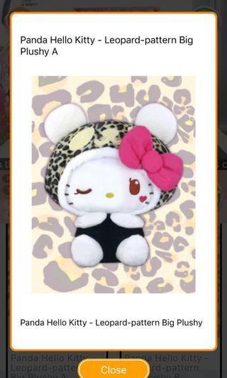 Hello Kitty Panda Plush Toy