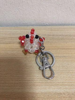 🚚 Chicken key chain