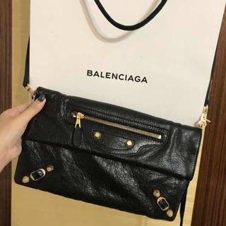 Balenciaga Classic Envelope Clutch With Strape