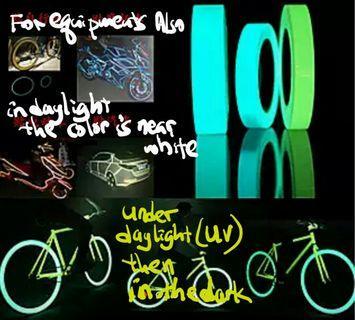 Glown night tape rain proof stage