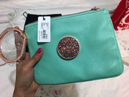 Mimco Modify medium pouch Colour: seafoam Rrp:$149