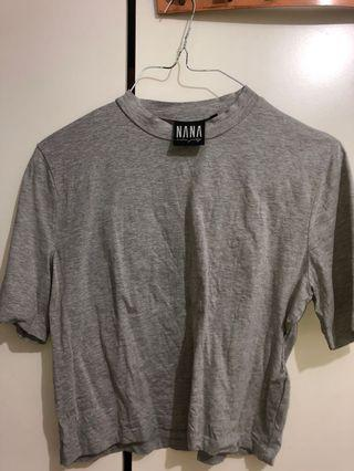 NANA Cropped Grey Top