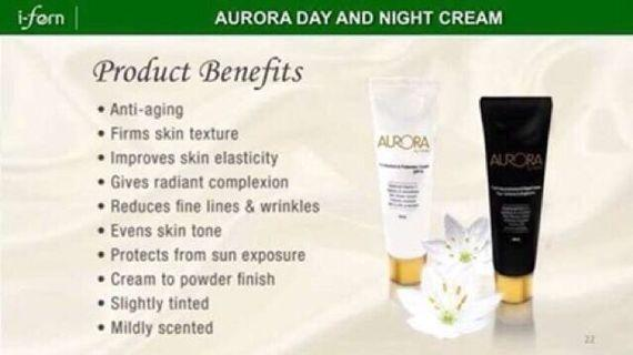 Auroa Day Cream w/ SPF15 & Night Cream 30mL