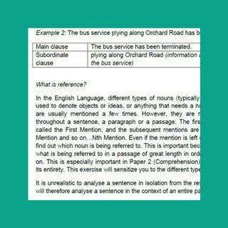 Sec/IP English comprehension notes