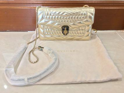 Bvlgari Gold Quilted Bag (Authentic)