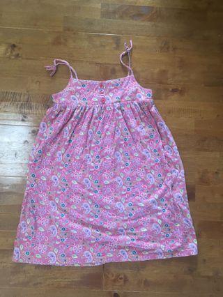 paisley pink dress