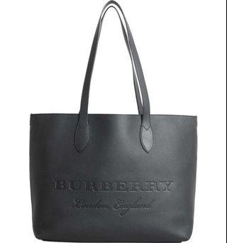 Burberry Remington Grainy Leather Tote Bag