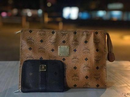 Combo MCM Clutch + Wallet