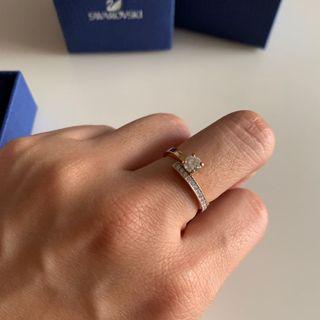 小資女孩👧施華洛世奇水晶+玫瑰金戒指