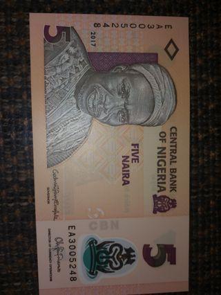 错体尼日利亚 5元