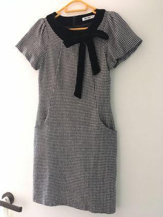 斯文裙 dress with side pocket