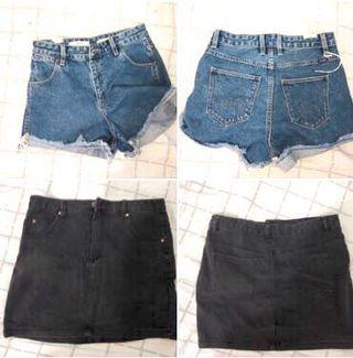 Cotton On Denim Shorts and Skirt