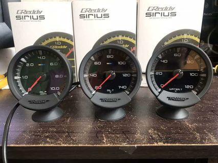 New Greddy Sirius Meter 7-Color 74mm