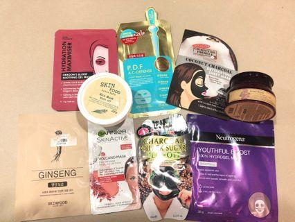 Assorted brand new face masks