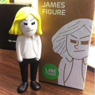 🚚 LINE FRIENDS 詹姆士公仔 全新(韓國購入)