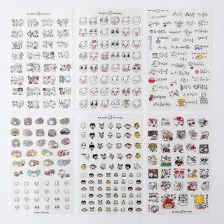 Cute expressions sheet stickers