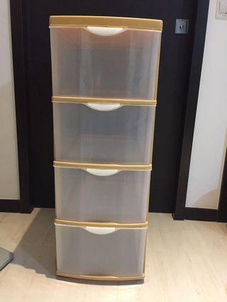Plastic Drawers 4 tiers