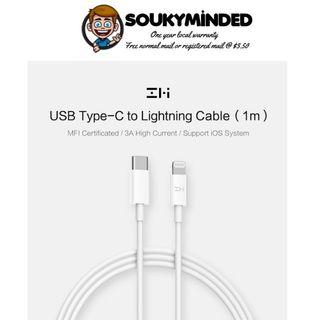 [IN-STOCK] ZMI USB-C to Lightning Cable, AL870, 3.3ft/1M, Apple MFI Certified, Supports 18W Power Delivery (PD), USB Type-C to Lightning Charging & Data Cable iPhone X/XS/XR/XS Max / 8/8 Plus