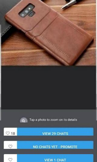 🚚 Samsung Note 9 Leather Case - Tan