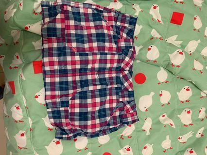 彩色格子短裙