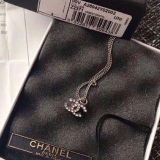 🚚 Chanel 水鑽項鍊 cc logo 有購證 真品正品