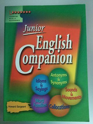 Learners Publishing Junior English Companion by Howard Sargeant - Antonymns, Synonyms, idioms, collocations