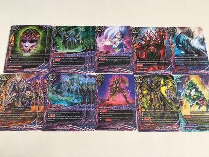 Buddyfight violence vanity darkness dragon world cards