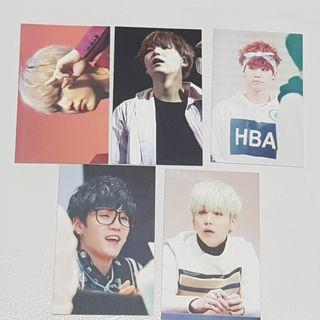 BTS Suga Fansite Photocards (5pc set)