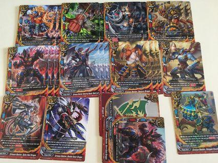 "Buddyfight crimson battler ""fist"" deck"