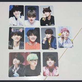 BTS Suga Fansite Photocards (10 pc set)