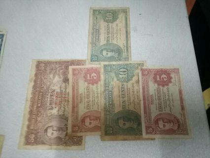 Malaya currency set