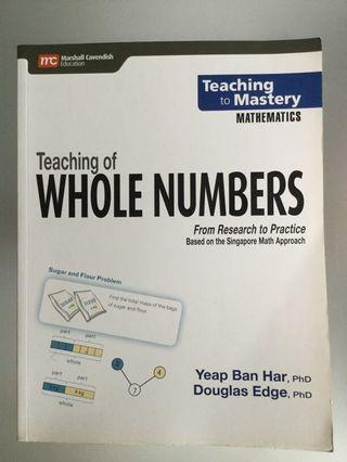 Marshall Cavendish Teaching of Whole Numbers, Yeap Ban Har