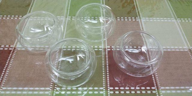 晶透耐熱玻璃茶杯4個