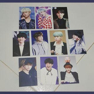 BTS SUGA Fansite Photocards (10)