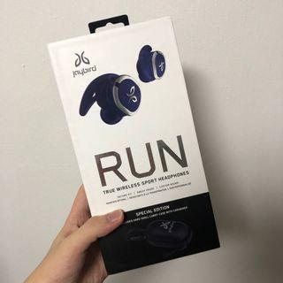 BNIB Jaybird Run Steel Blue Special Edition (with Hard Shell Carry Case with Carabiner)
