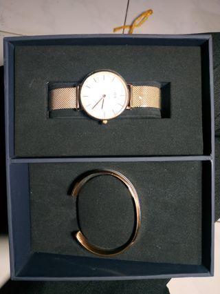 Daniel Wellington watch + cuff