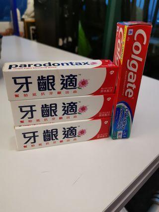 Toothpaste 牙膏1 set 4支