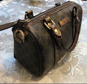 Gucci Brown Bronze Monogram Handbag