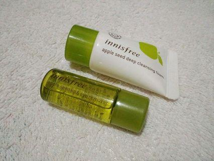 (BARU) Innisfree Apple Cleanser(Facial Foam and Cleanser Water) Travel Kit