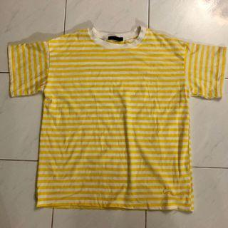 ulzzang harajuku yellow striped top