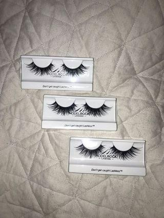 model rock lash packs (5 packs & single pairs)
