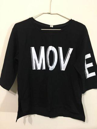 🚚 MOVE字母短T恤