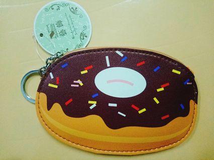 🚚 甜甜圈皮革零錢包