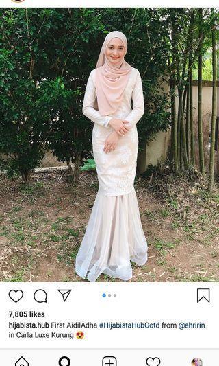Hijabista Hub Carla Luxe Kurung in L