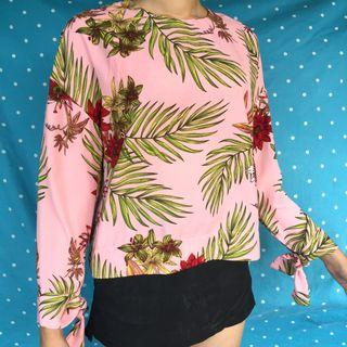 Pink Tropical Blouse