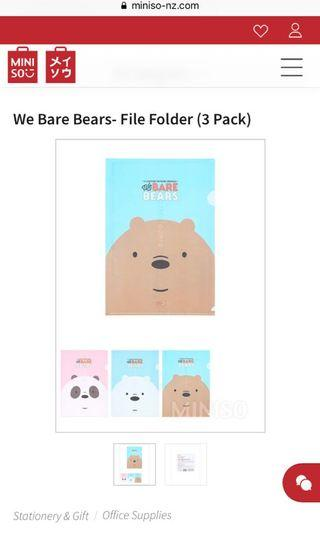 🚚 We Bare Bear Folders (3 Folders)