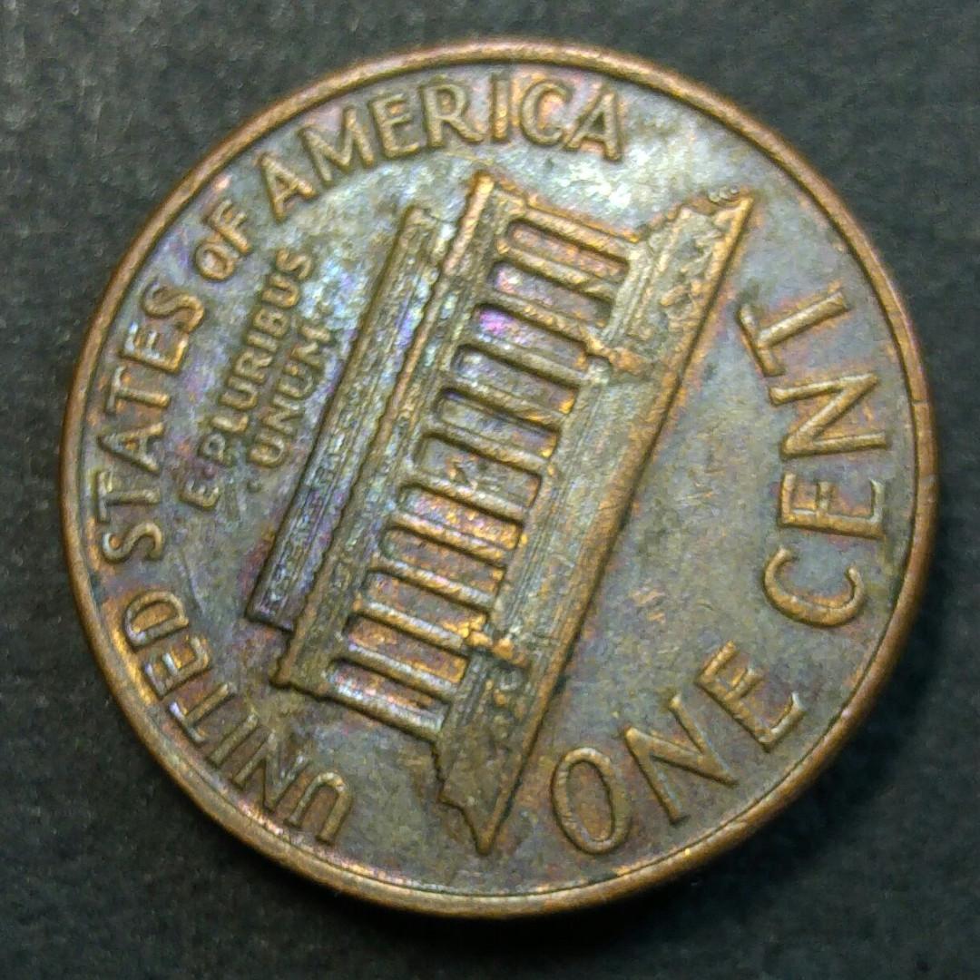 [包漿] 1960-D 美國林肯一美仙硬幣一枚