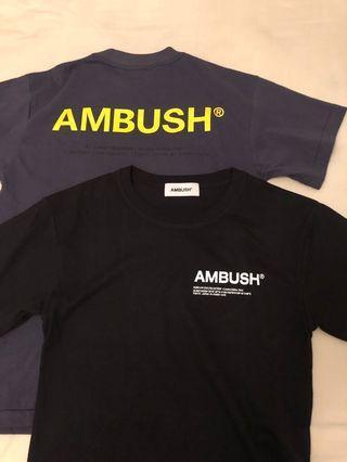 Ambush tee size 1 1200 for both