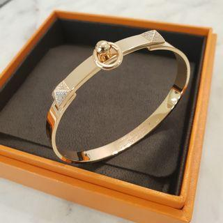 🚚 Hermes Rosegold cdc bangle with diamonds